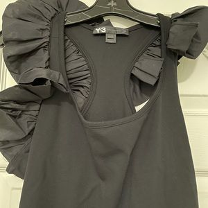 Y-3 black lux frill Dress